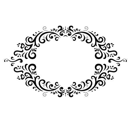 vintage frame on white background Illustration