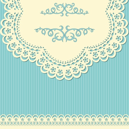 antique wallpaper: Retro background with lace and doted wallpaper
