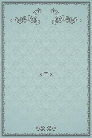 Vintage frame on damask background Stock Vector - 13510583