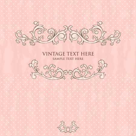 baroque: Vintage background with damask pattern in retro style