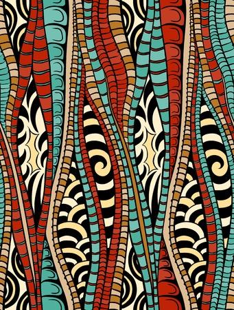 pattern: Abstracte kleurrijke naadloze patroon met lijnen Stock Illustratie