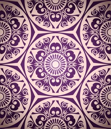 복고 스타일 원활한 패턴 일러스트