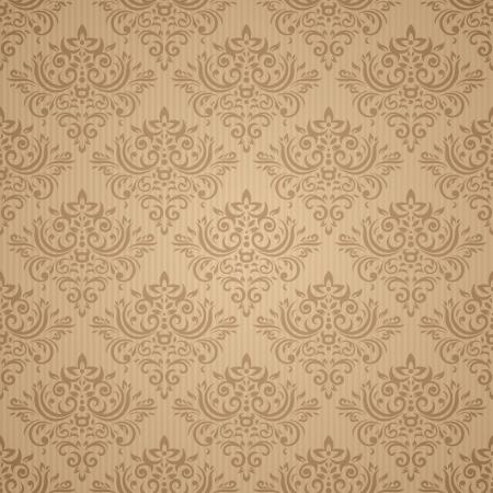 dark beige: Seamless pattern in retro style