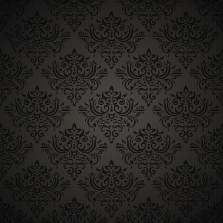 Vintage seamless su sfondo scuro con elementi floreali Archivio Fotografico - 13721106