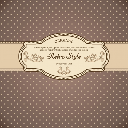 victorian wallpaper: Vintage background with polka-dot Illustration