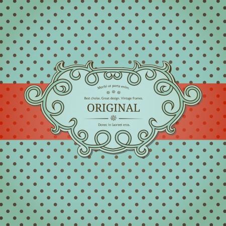 polkadot: Vintage background with polka-dot Illustration
