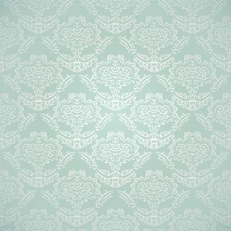 tegelwerk: Vintage naadloze patroon op verloop achtergrond met florale elementen