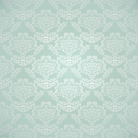 Vintage seamless pattern on gradient background with floral elements