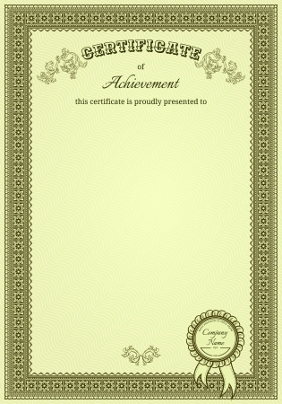 Vintage frame with stamp  Perfect for diploma or certificate Vector
