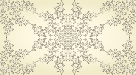 Seamless pattern in retro style  Stylized lace   Vector