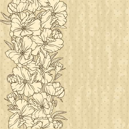 Elegant floral background in retro style  Vector