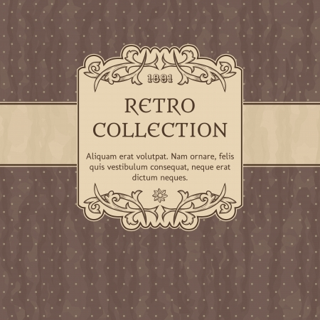 Stock Vector Illustration  Vintage background with polka-dot  Ilustração