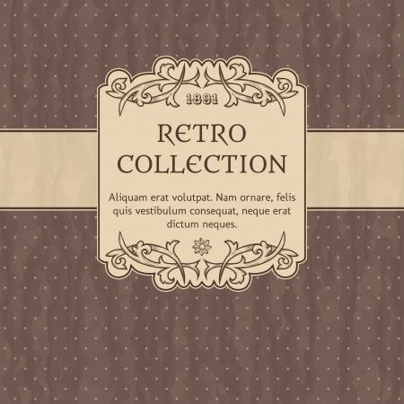 Stock Vector Illustration  Vintage background with polka-dot  Illustration