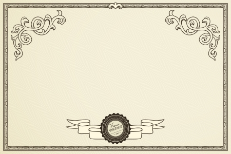 Certificate of success in retro style Vector