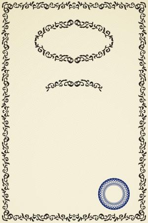 Certificate of success in retro style  Vector