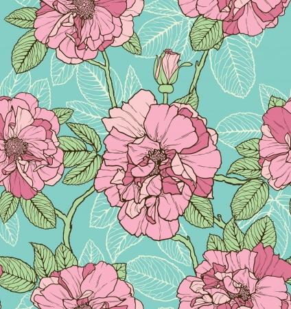 Floral seamless pattern avec des fleurs dessinées à main Banque d'images - 14661889