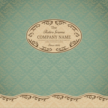 Vintage background wit ornate frame