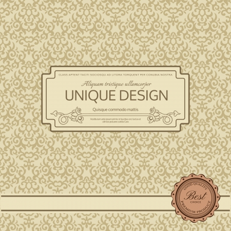 antique wallpaper: Vintage background wit ornate frame