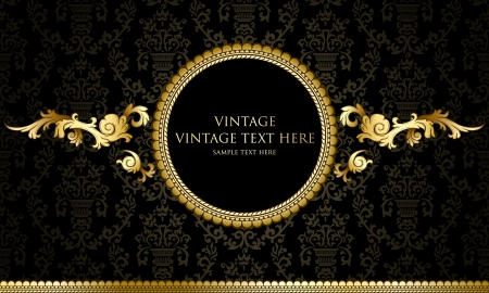 victorian: Vintage background with damask pattern