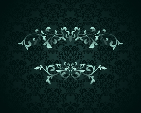 Vintage background with damask pattern  Stock Vector - 14885077
