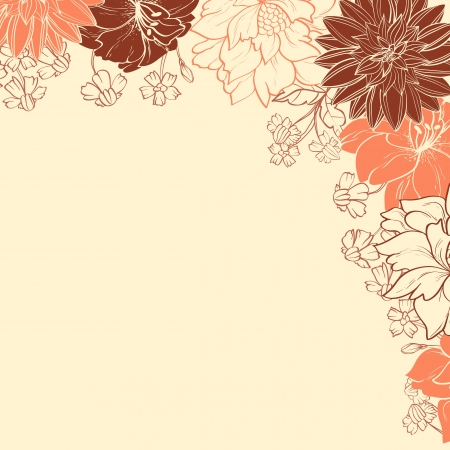 decoration: Floral background with colored flowers