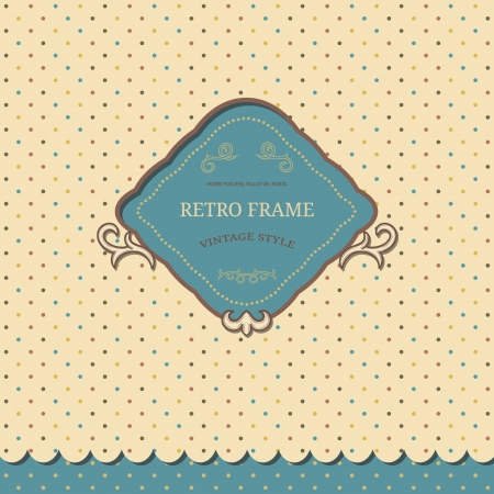 Vintage background wit ornate frame Vector