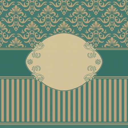 wit: Vintage background wit ornate frame