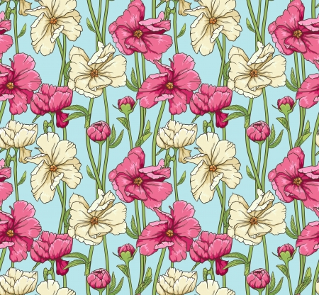 Stylish floral seamless wallpaper  Vector