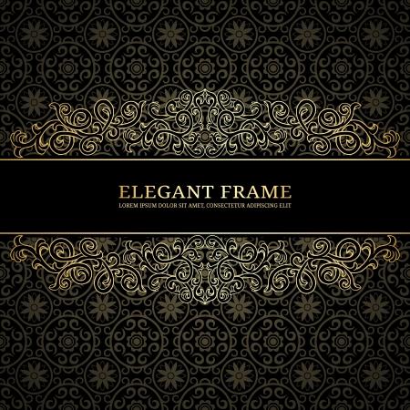 elegância: Fundo do vintage com teste padr�o do damasco