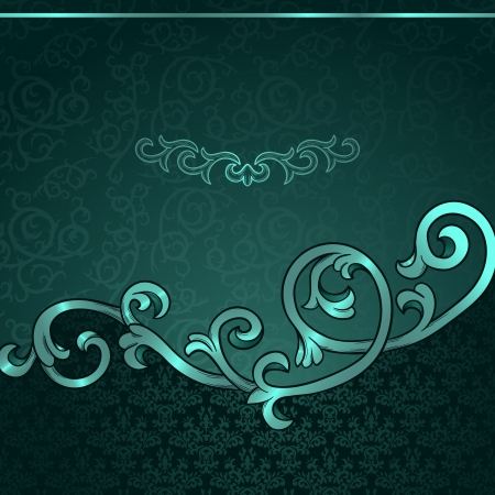Vintage background with damask pattern