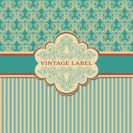 Elegant vintage frame with damask pattern Stock Vector - 15047289