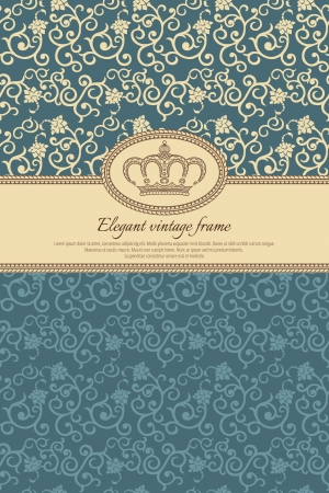 Vintage background with retro pattern and crown