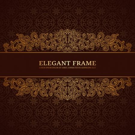 Vintage frame con ornamento dorato Archivio Fotografico - 15047263