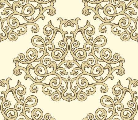 Damask seaml;ess pattern Stock Vector - 15355183