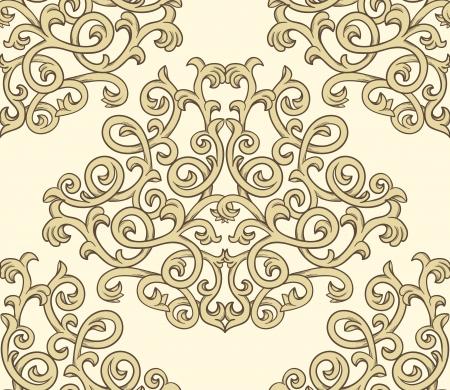 textile image: Damask seaml;ess pattern Illustration