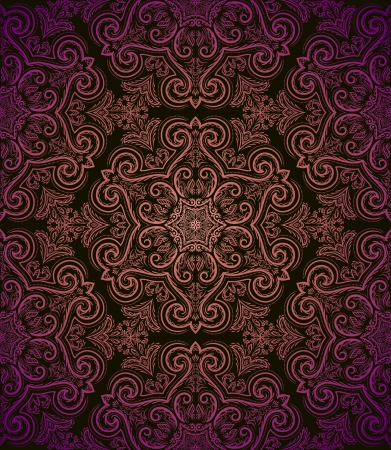 Vintage seamless pattern in retro style  Vector