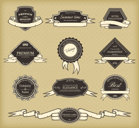 Set of elegant frame in retro style Vector