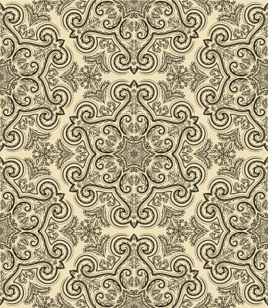 Naadloze patroon in retro stijl Stock Illustratie