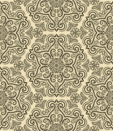 baroque: Seamless pattern in retro style