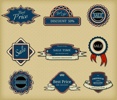 Set of elegant frames in retro style Vector