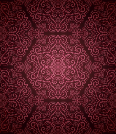 Vintage seamless pattern on dark background  Vector