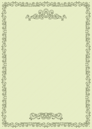 Vintage certificate on seamless background  Vector