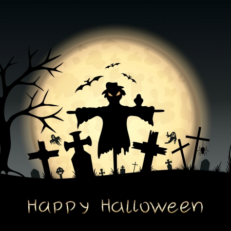 Halloween scary postcard  Vector