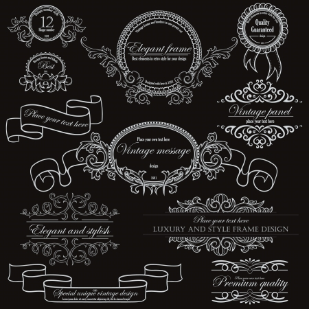 Set of vintage design elements   Stock Vector - 15704776