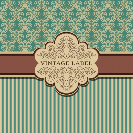 damask: Vintage background with damask pattern