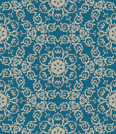 Elegant vintage seamless pattern with gold ornament