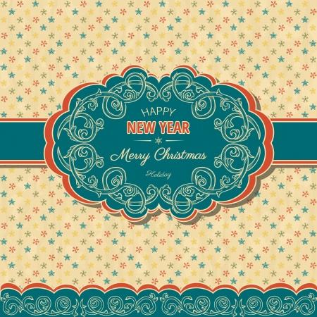 fondo de graduacion: Navidad ans fondo del A�o Nuevo con estilo retro