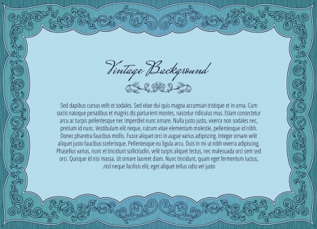 Background in retro style with vintage ornament frame  Vector