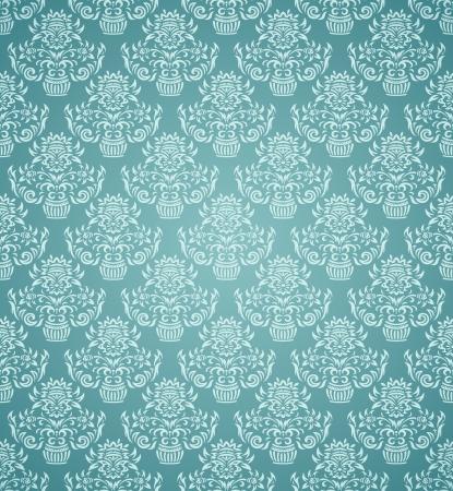 青の背景に抽象的なシームレス パターン
