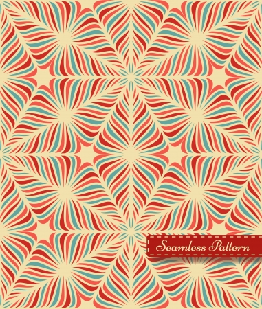 Abstract seamless pattern with small red frame  Vector